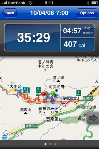 ランニング日誌(10/04/06)箱根で駅伝区間をちょっとだけ走ってみた!ラン![Runnin' Higher]