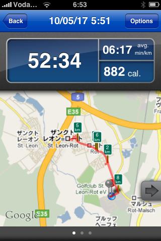 写真つきランニング日誌(10/05/17)ドイツでも走るぞ!ラン![Runnin' Higher] [Photo]