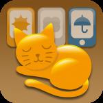 """ネコ好きの、ネコ好きによる、ネコ好きのための天気予報アプリ。じんわりいいよ。""""ねこ日和"""" [iPhone]"""