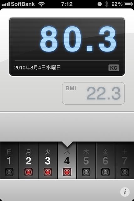 ランニング日誌(10/08/04)空の色が秋の気配だラン! #run_jp [Runnin' Higher]