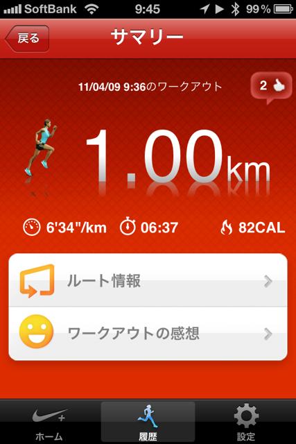 ランニング日誌(11/04/09)雨の前に走れ!ショートラン!