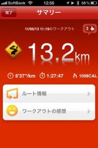 ランニング日誌(11/05/13)復活!大手門まで13kmラン!