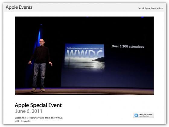 WWDC 2011 開幕! キーノートセッションの動画公開!