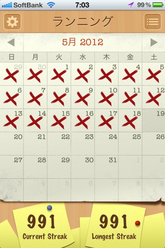 ランニング週間目標達成なのだが…。  [カラダログ 2012/05/18]