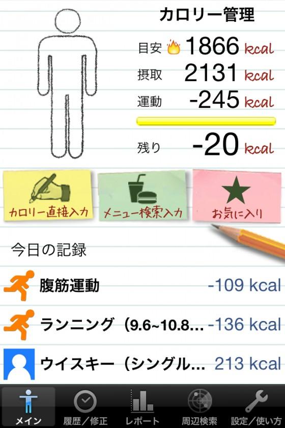 だましだまし→夕方から体調崩れる [カラダログ 2012/06/07]