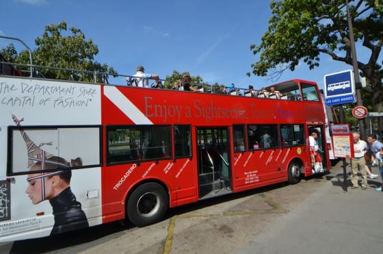 Les Cars Rouges(レ・カー・ルージュ)〜 パリ中心部周遊観光 オープン2階建てバス!予約なしで乗れる!!パリ初心者にオススメ!![2012年夏 ヨーロッパ旅行記 その19]