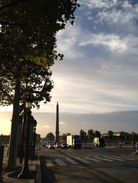 写真つきランニング日誌 パリ編 夜明けのコンコルド広場ラン! [2012年夏 ヨーロッパ旅行記 その23]