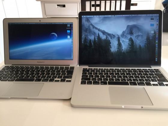 13インチ MacBook Pro Retinaディスプレイモデル Ultimate カスタマイズ機が到着!開封の儀と11インチMacBook Airとの比較!!
