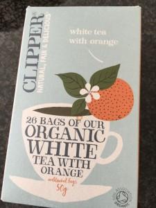 クリッパー ホワイトティー with オレンジ  爽やかなオレンジフレーバーのホワイトティー。ただしカフェイン入りなのでガブ飲み注意