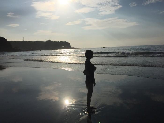 伊豆 今井浜 夏の早朝の風景