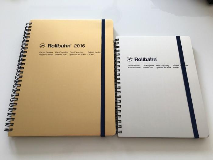 デルフォニックス ロルバーン ダイアリー XL ゴールド と A5ポケット付きメモ シルバー 2016年はこの2冊でいきます!!