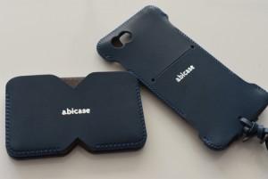 おすすめ 手作り iPhone レザーケースといえば abicase(アビケース) — ネイビーのケースとお揃い名刺入れを新調!! [iPhone]