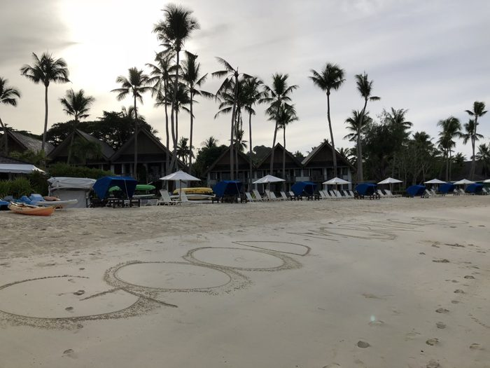 パラオで迎えた最初の朝は残念な曇り空!それでもPalau Pacific Resortのプライベートビーチをランニングしたらめっちゃ嬉しかった!! [2017年パラオ旅行記 その13]
