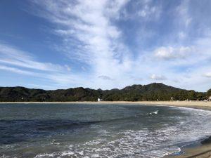 南伊豆町 弓ヶ浜海水浴場を散策! 伊豆半島最南端の海は波が高く輝き美しかった!! [2017年12月 南伊豆旅行記 その6]