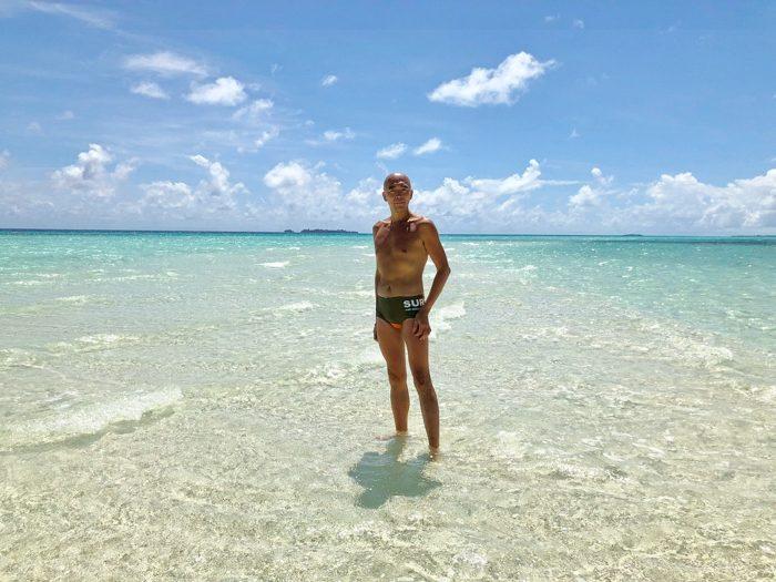 ロングビーチ 〜 パラオで一番来たかった場所! 干潮時だけ現れる真っ白な砂浜と360度海という絶景を見よ!! [2017年パラオ旅行記 その30]