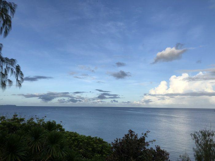 パラオ最後の日の朝は雲が多めながらも穏やかな好天! パラオを最後まで味わおう!! [2017年パラオ旅行記 その37]
