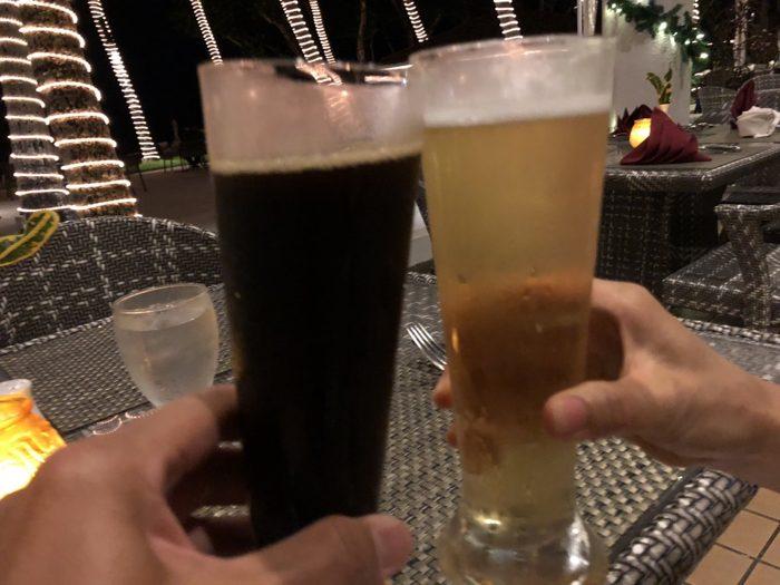 パラオの旅最後の夕食は毎度おなじみPPRのココナッツテラスで!充実の旅に乾杯!! [2017年パラオ旅行記 その41]